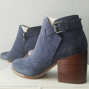 Marc Fisher Vandy Blue Suede Ankle Boots